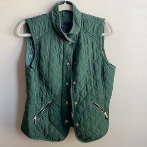 Dark Green Quilted Vest - Zara M